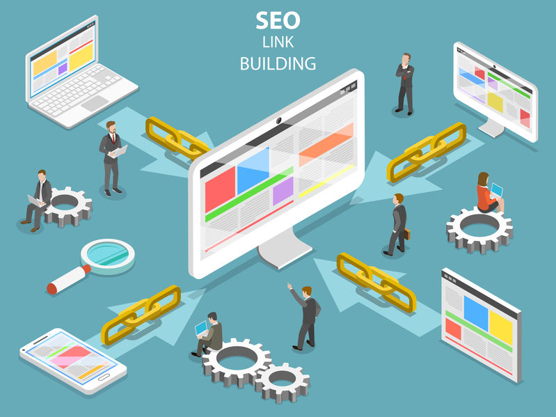 icon depicting the concept of link building