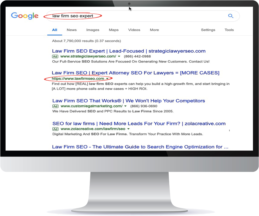 Monitor Law firm seo expert