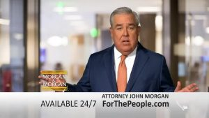 image of john morgan in a morgan and morgan television commercial